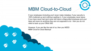 MBM Cloud-to-Cloud Backup Service